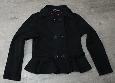 Girls Black Jacket Age 6-7 Years Marks And Spencer Smart Doubl Breasted Used