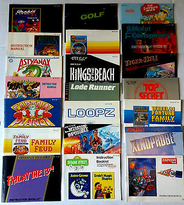 LOT of 21 Nintendo NES instruction booklet MANUALS, Friday 13th, Captain Planet