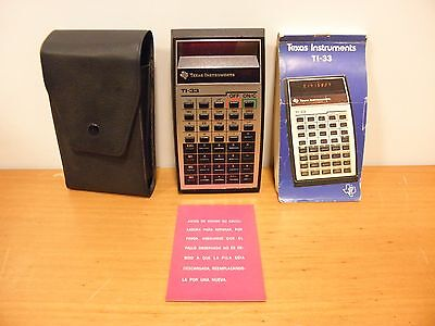 Calculadora TEXAS INSTRUMENTS TI-33 Led Rojo. Vintage. Incluye Funda. Funciona.