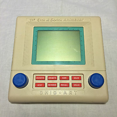 The Etch A Sketch Animator Ohio Art 1987 Drawing Vintage Works