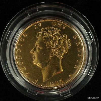 1826 George IV Gold Full Sovereign - London Mint Office Issue High Grade