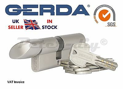 Gerda High Quality Euro Profile Cylinder Door Lock Barrel 5Keys PRO Thumb Turn