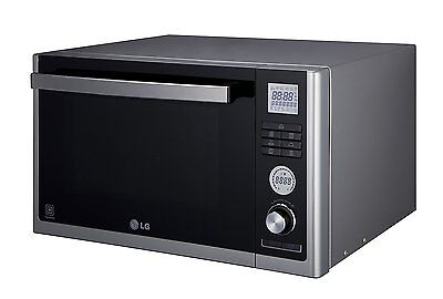 LG MJ3281BCS - microwave oven with grill - freestanding - black / silver  (Y116)