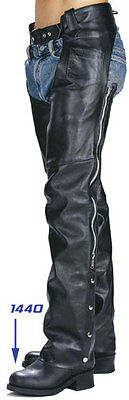 Classic Motorcycle Unisex Leather Chaps