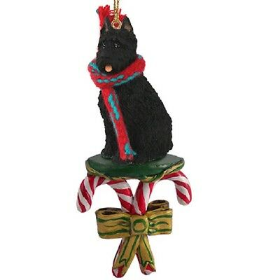 Bouvier des Flandres with Cropped Ears Candy Cane Ornament