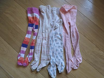 Girls' 2 to 3 years four pairs of tights