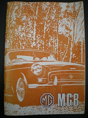 MGB Tourer and GT Handbook AKD 7598 (2nd Edition) + Supplement - FREE DELIVERY!