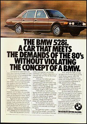 1979 Vintage ad for The BMW 528i   (081912)