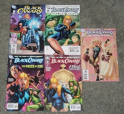 DC Comics Black Canary #1-4 And Black Canary Wedding Planner #1 Lot Of 5