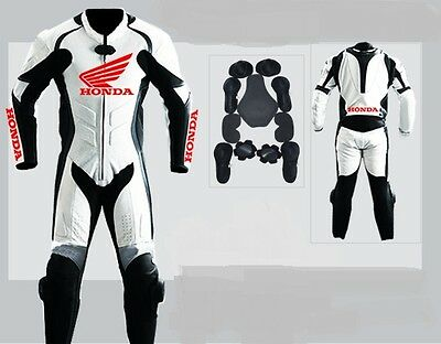 Motorbike Motorcycle Honda Leather racing 1 & 2 piece Suit tailor made