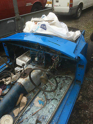 Mg Roadster Chrome Bumper Bodyshell With Chassis Plate And Number Plate