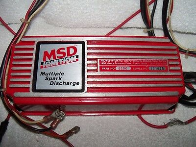 MSD 6200 Ignition Control Box Multiple Spark Discharge FREE SHIPPING!