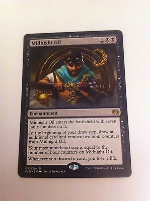 4 x MTG Card - MIDKNIGHT OIL - RARE Kaladesh - NEW