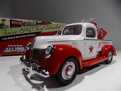 1940 FORD Texaco Wrecker #3 in Series 1/18th Scale  LImited Edition