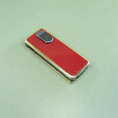 Vintage RONSON ELECTRONIC Lighter Red enamel fascia.Made in West GermanyUNTESTED