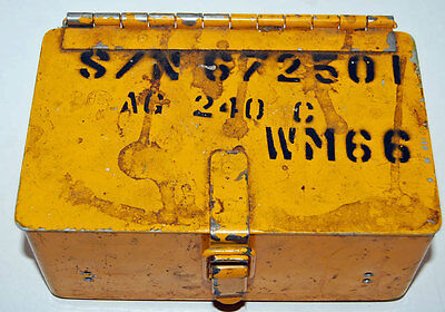 Vintage Northern Pacific Railroad Small Steel Box