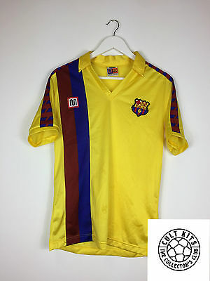 Retro BARCELONA 84/89 Away Football Shirt (S) Soccer Jersey Meyba