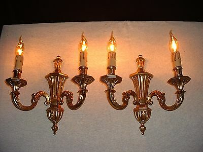 Vintage Empire style sconces in bronze from France