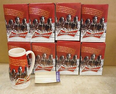 LOT of 8 Budweiser 2013 Clydesdale Beer Mugs *FREE SHIP 220