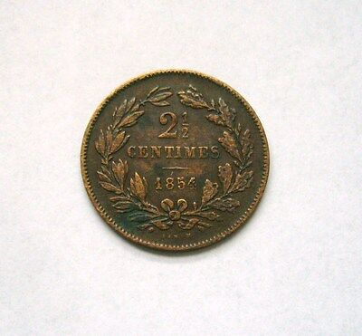 Luxembourg  2-1/2 Centimes 1854
