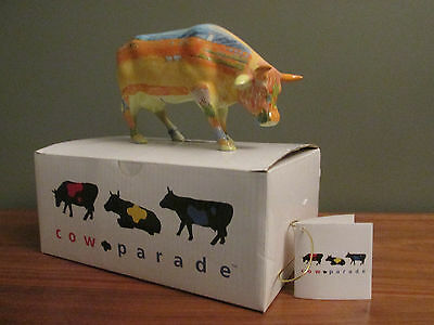 """Cow Parade """"Vincent Ban Cogh"""" Figurine #9174 New in Box, Retired"""