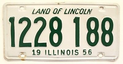 Vintage Illinois 1956 License Plate Wall Sign for Man Cave, Garage, Bar Decor