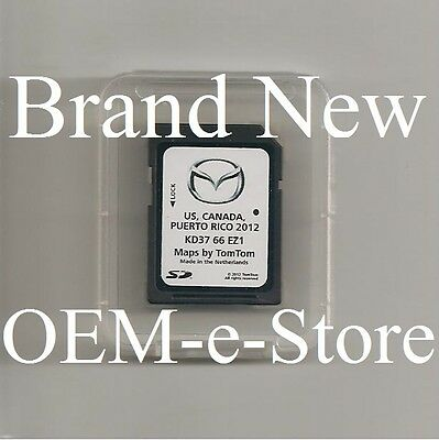 OEM Mazda Navigation SD CARD U.S Canada Puerto Rico Map FOR 2013 Mazda3 ONLY