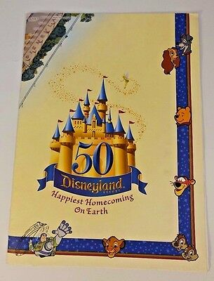 Disneyland 50th Anniversary Folded Wall Map Poster FREE SHIP