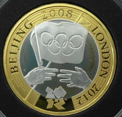 Great Britain 2 pounds 2008 olympics Proof Silver