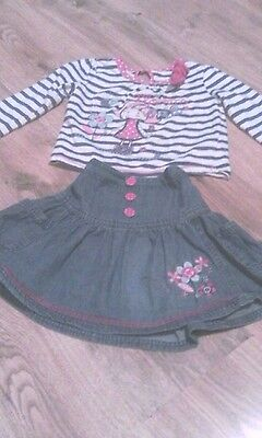 Age 2-3 girls top and skirt