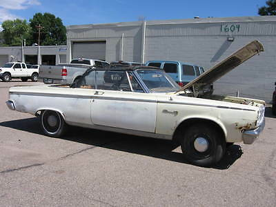 1965 Dodge Coronet Rolling Chassis 1965 Dodge Convertible Coronet 500 Rolling Chassis SUPER CLEAN SOLID PROJECT