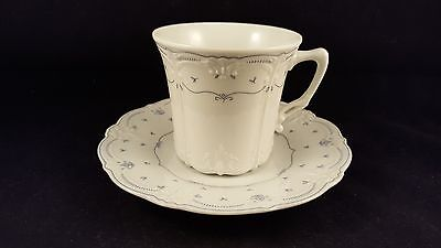 Tirschenreuth Baronesse Porcelain Cup and Saucer - Blue and White