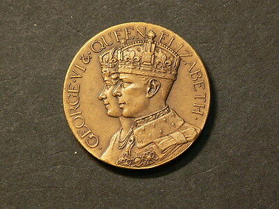 1937 King George VI Coronation Medal, Bronze, 25mm, 10.9g #4292