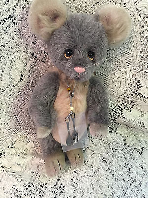 """Charlie Bears Ritz the mouse * 8.5"""" 2015 Isabelle Mohair Collection FREE US SHIP"""