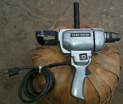 """L@@K Vintage Craftsman Commercial 1/2"""" Reversible Electric Drill! 5/8hp.31525863"""