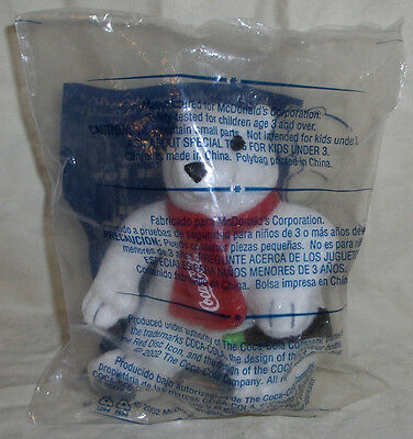 "2002 Collectible Coca-Cola Mini 4"" Polar Bear Plush Toy Stuffed Animal"