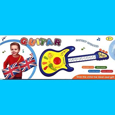 Kids Toy Guitar Educational Instrument With Light Music With Microphone Toy
