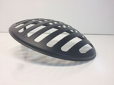 "Black 7"" stone guard rock Slotted headlight cover motorcycle triumph honda"