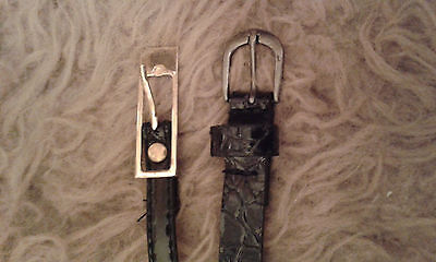 2 x Girls Belts in Black, Good Condition