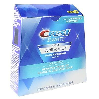 Crest 3D 7 x 1 Hour Express White Strips Advanced Teeth Whitening System