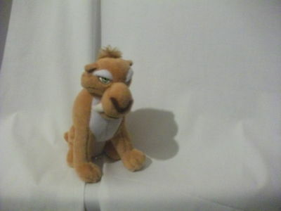 "7"" cute soft diego saber toothed tiger from ice age ty beanie babies plush doll"