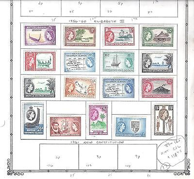SOLOMON ISLANDS...#89-105...1956/60...Complete Set of 17... Mint...SCV $110.45