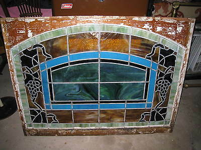 1848 - 1860 Original Vintage Stained Glass Large Window