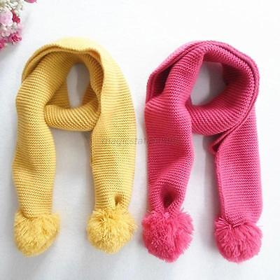 Kids Child Baby Knitting Wool Scarves Shawls Warm Baby Neck Scarf Cute Gifts