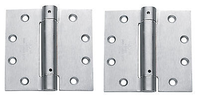 "2 pack Commercial Spring Hinge 4.5"" x 4 1/2"" Door Closer US26D Satin Chrome"