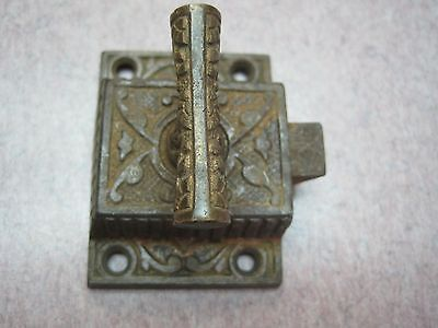 cabinet latch antique cast iron t handlel  jelly catch rustic cupboard NO KEEPER
