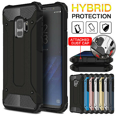 For Samsung Galaxy Note 9 S9 S8 Hybrid Armor Shockproof Rugged Bumper Case Cover