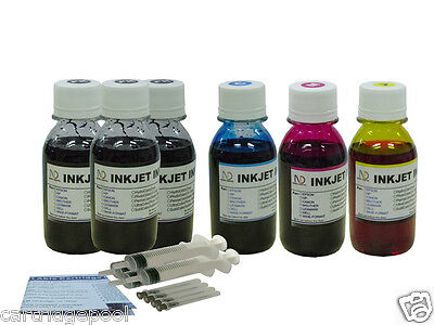 6x100ml refill ink for HP Canon Brother Dell Epson printer Cartridge,Extra black
