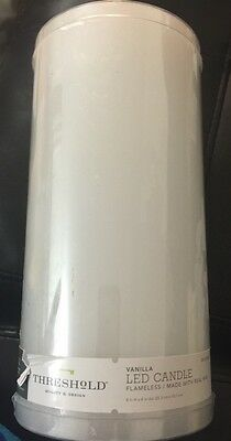 New Vanilla Lead Flame less Candle Holder Holiday Party Light Real Wax White Tal