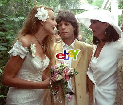 MICK JAGGER, JERRY HALL at ANJELICA HUSTON WEDDING Part 2 -4 original 4x6 photos